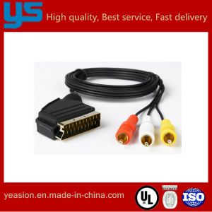 china scart to mini 3 pin rca cable china scart cable vga cable rh yeasion en made in china com