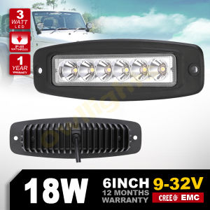 China Mini 6 Inch LED Light Bar Flush Mount 18W Offroad LED Bar for