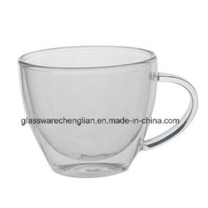Hand Made Double Wall Glasstea Cup pictures & photos