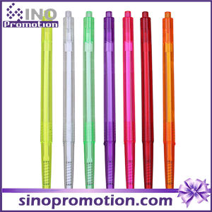 Transparent Ballpoint Pen Colorful Plastic Ball Pen as Promotional Gift