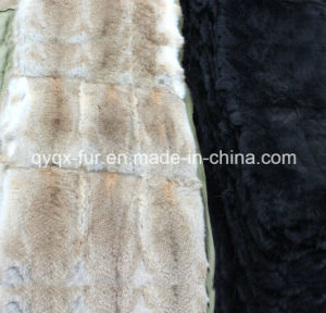 Natural and Dyed 100% Genuine Rabbit Fur Plate for Garments