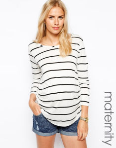b54839a246d China Maternity Pregnancy Clothes with Long Sleeve Stripe - China Maternity  Clothes