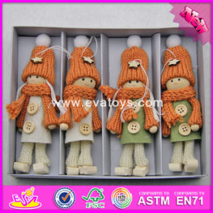 2017 New Products Christmas Wearing Warming Wooden Doll Bodies W02A247 pictures & photos