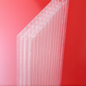 Four Wall Hollow Polycarbonate Sheet Transparent Sheet for Roofing