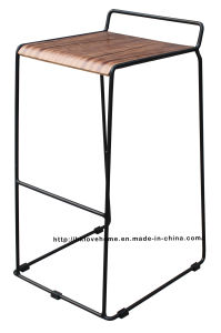 Modern Replica Steel Furniture Wooden Black Bar Stools pictures & photos