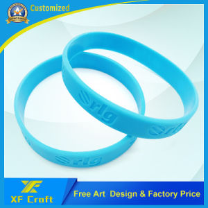 Custom Logo Silicone Wrist Band for Decoration Gifts (XF-WB12) pictures & photos