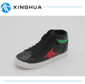 New Arrival Women High Top Canvas Shoes pictures & photos