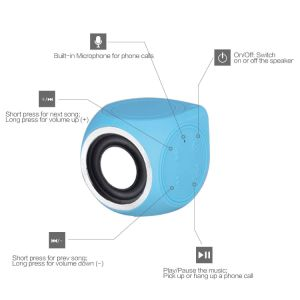 Pantheon Shower Pool Outdoor Speaker Comes with Built-in Mini Microphone Waterproof Mini Bluetooth Speaker pictures & photos