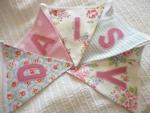 Wedding Tea Party Vintage Decorations Lovely Floral Fabric Bunting