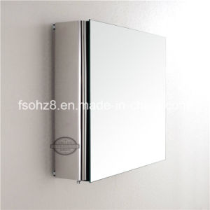 Most Fashion Stainless Steel Furniture Bathroom Mirror Cabinet (7018) pictures & photos