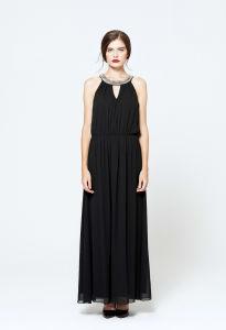 Black Maxi Chiffon Dress