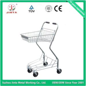 Ce Proved Basket Shopping Trolley with Double Layer pictures & photos