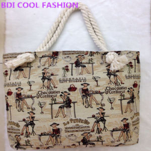 New Design Hot Selling Canvas Ladies Bag (Hcb-1410)