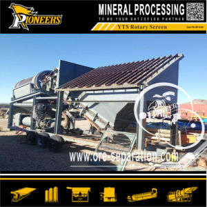200 Tons Per Hour Movable Gold Trommel Washing Screener Machine