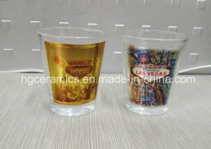 50ml Shot Glass with Gold Blocking Decal Printed