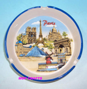 Ceramic Ashtray Souvenirs with Printing Crafts Gifts pictures & photos