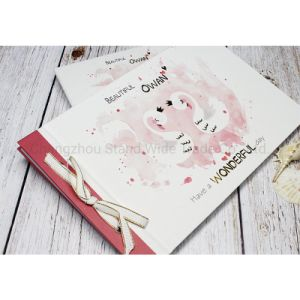 Golden Stamping Spiral Printed Paper Scrapbook Album White