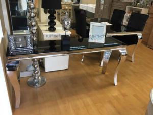 China Modern Glass Chrome Stainless Steel Console Table China