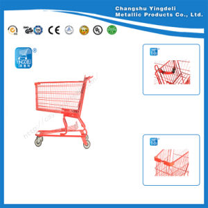 Plasic America Spraying Shopping Hand Trolley/Shopping Cart for Store