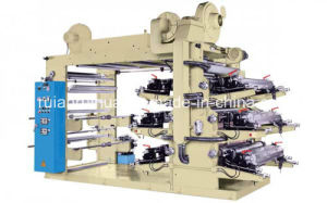 Paper /Film/Nonwoven 6color Normal Speed Flexographic Printing Machine pictures & photos