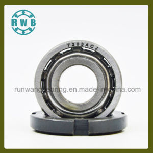Single Row Angular Contact with The Iron Cage Bearings, Roller Bearings, Factory Production (7203ACJ)