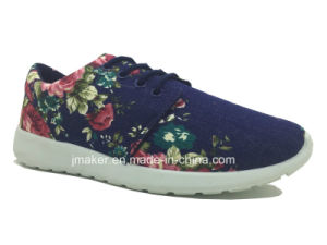 Comfort PVC Injection Running Shoes for Ladies (J2276-L)
