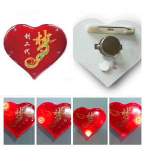 Flash LED Blinking Pin with Customized Logo Printed (Art F001)