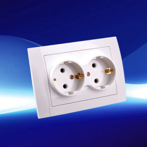 2 Gang Wall Socket with Earthing (YW2512)