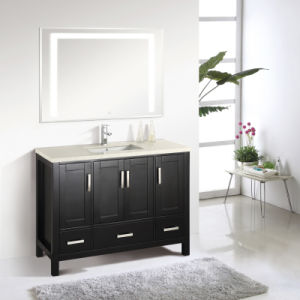 Espresso Finished Durable Floor Mounted Bathroom Furniture