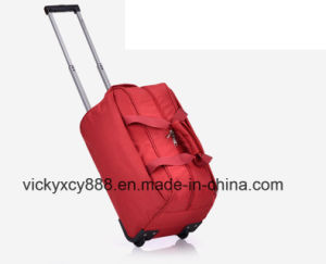 Big Capacity Waterproof Nylon Trolley Wheeled Luggage Travel Bag (CY3411) pictures & photos
