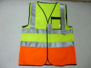 Two Tone Reflective Safety Vest pictures & photos