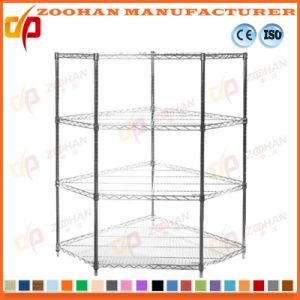 Chrome Home Closet Storage Wall Corner Wire Shelving (Zhw159)