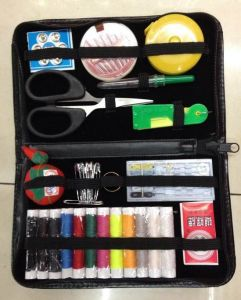 Travel Sewing Kit in PU Bag pictures & photos