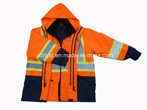 Five in One Parka Reflective Safety Jacket pictures & photos