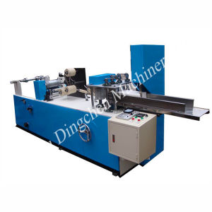 Automatic Napkin Paper Folding Machine with Embossing pictures & photos