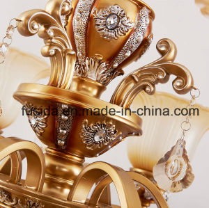 Bronze Crystal Luxurious Glass Chandelier Lighting for Parlor Decoration D-6131/3 pictures & photos