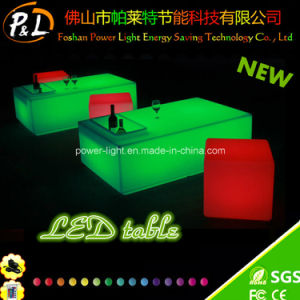 Rechargeable Lithium Battery Bar Furniture LED Square Table pictures & photos