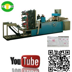 Three Color Printting Tissue Napkin Paper Folded Making Machine pictures & photos
