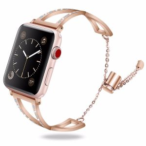 7c8f788ad 2018 Newest Girls Stainless Steel Strap for Apple Watch Band Women Bracelet