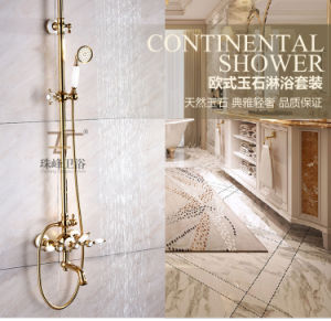 Timeless Life-Style Antique Jade Brass Multifunction Zf-42-3 Rain Shower Set