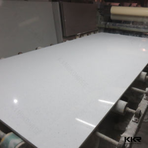Engineered White Quartz Stone for Kitchen Coutertop (KKR-QS005) pictures & photos