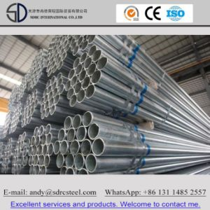 BS 1387 Hot DIP and Pre Galvanized Round Steel Pipe pictures & photos