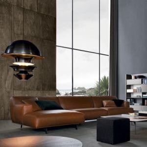 China Living Room Furniture Brown Nappa Leather Sofa L629 China