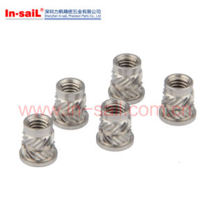Heat Staking Symmetrical Designed Knurled Insert Nut pictures & photos