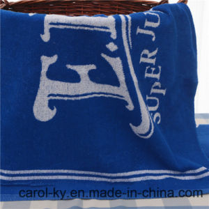 100% Cotton Yarn Dyed Blue Bath Pool Towel pictures & photos