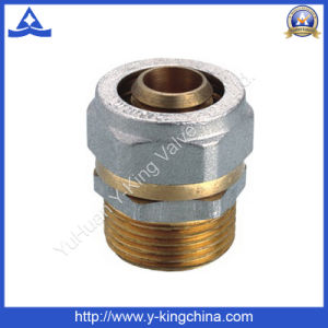 Nickel Plated Brass Compression Pipe Fitting - (YD-6054) pictures & photos
