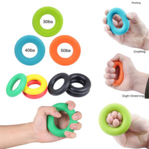 Silicone Colorful 3 Different Resistance Levels Hand Strengthener Exercise Ring pictures & photos