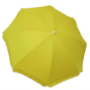 Personal 136cm Beach Umbrella 98% UV Protection Upf50+ Yellow