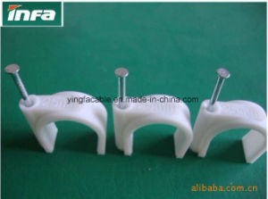 Plastic Material and Flat Nail Clip Type Plastic Wall Cable Clip pictures & photos