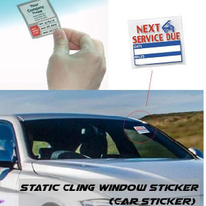Non Self Adhesive Removable Window Static Cling Stickers